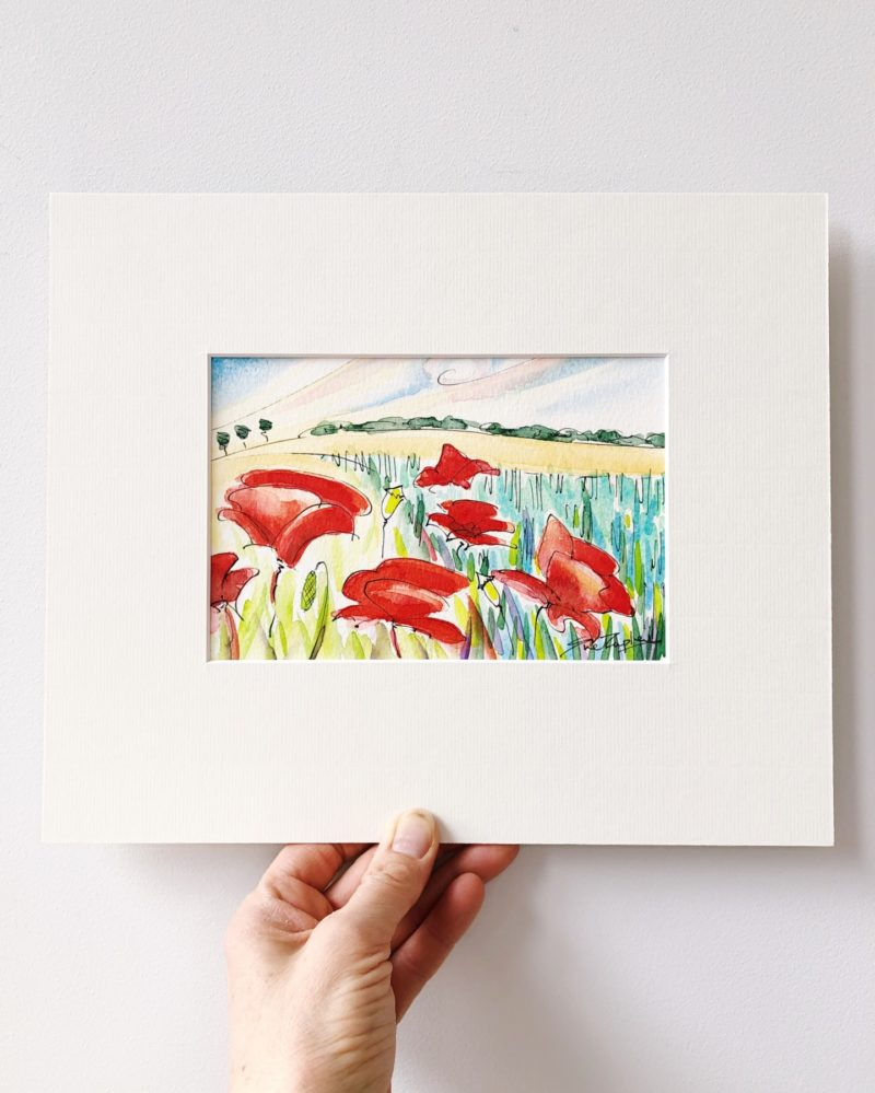 Sue Rapley Artist The Watercolour Collection Poppies and Wheat II
