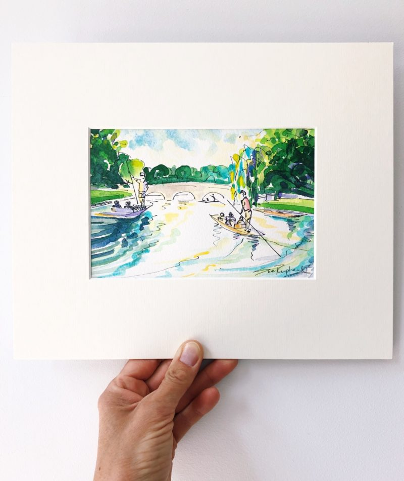 Sue Rapley Artist The Watercolour Collection Lazy Days on the Cam