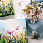 Sue Rapley Artist The Serenity Collection artwork in situ home